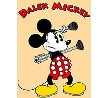 Dalek Mickey (plus Text) Photographic Print