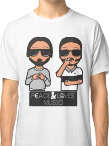 peace and love music Classic T-Shirt
