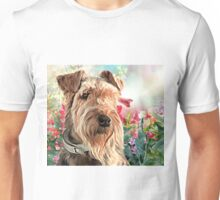Airedale Painting  Unisex T-Shirt
