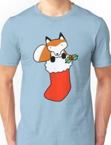 Christmas Stocking Fox Unisex T-Shirt
