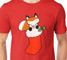 Christmas Stocking Fox Unisex T-Shirt