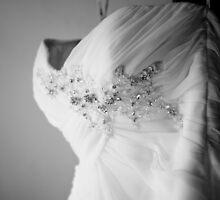 Wedding dress ~ B&W by Karen  Betts