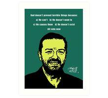 Ricky Gervais Atheist Art Print
