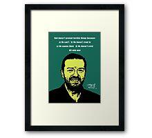 Ricky Gervais Atheist Framed Print