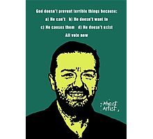 Ricky Gervais Atheist Photographic Print