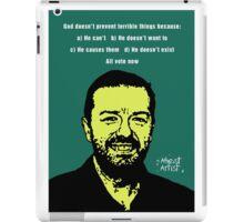 Ricky Gervais Atheist iPad Case/Skin