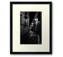 Seville at Night - Calle Aguilas Framed Print