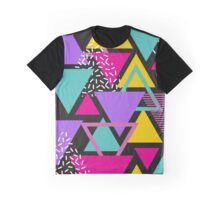 Memphis Triangles Graphic T-Shirt