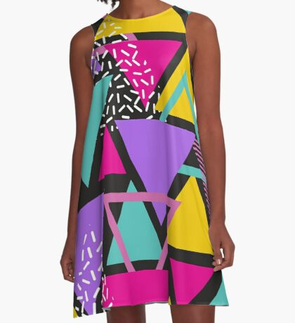 Memphis Triangles A-Line Dress