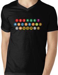 New York Subway Lines Mens V-Neck T-Shirt