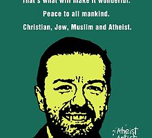 Ricky Gervais Atheist Christmas by DJVYEATES