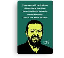 Ricky Gervais Atheist Christmas Canvas Print