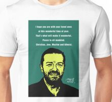 Ricky Gervais Atheist Christmas Unisex T-Shirt
