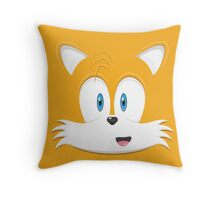 Miles 'Tails' Prower face Throw Pillow