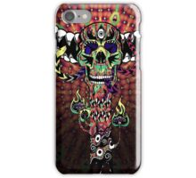 Psychedelic Skull and Snake Totem - Color iPhone Case/Skin