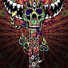 Psychedelic Skull and Snake Totem - Color by Andrei Verner