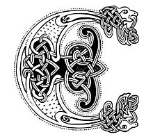 Celtic design, The Icelander's Sword, or The Story of Oraefa dal Photographic Print