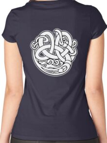 Celtic knot, Snake, dragon, patterns, abstract, celtic, celts, geometric, Women's Fitted Scoop T-Shirt