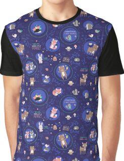 Night woodland Graphic T-Shirt