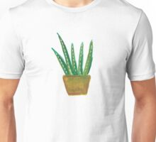 Potted Aloe Watercolor Unisex T-Shirt