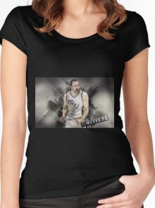 Basketball ethics Women's Fitted Scoop T-Shirt