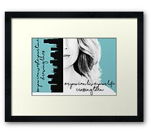 Grey's anatomy quote 2 Framed Print