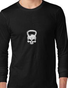 Kettlebell Skull White Long Sleeve T-Shirt