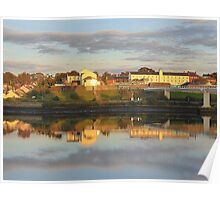 Waterside Reflections On The River Foyle Poster