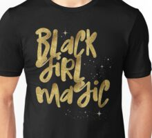 Black Girl Magic Nah BLM Black Lives Matter Faux Gold Glitter Bling Melanin African Queen Unisex T-Shirt