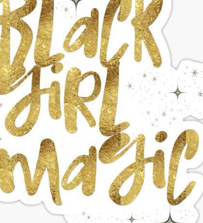 Black Girl Magic Nah BLM Black Lives Matter Faux Gold Glitter Bling Melanin African Queen Sticker