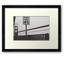 Obey the law. Framed Print