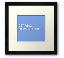 Get Real (dark blue) Framed Print