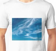 Wispy White Cirrus Cloud. Photo Art, Prints, Gifts. Unisex T-Shirt