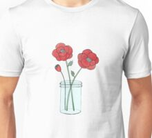 Poppies in a Jar Unisex T-Shirt
