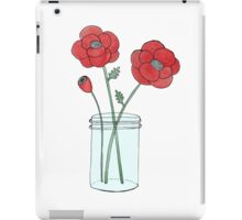 Poppies in a Jar iPad Case/Skin