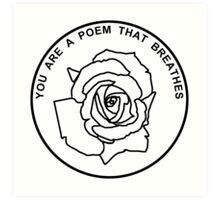 Poem Art Print