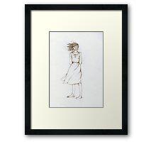 Girl in the wind....... Framed Print