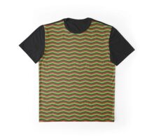 Chrsitmas Red and Green Chevron Zigzag Pattern Graphic T-Shirt