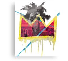 Simple Basquiat Canvas Print