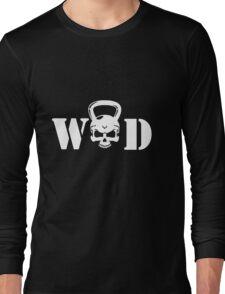 WOD Kettlebell Skull White Long Sleeve T-Shirt