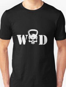WOD Kettlebell Skull White Unisex T-Shirt