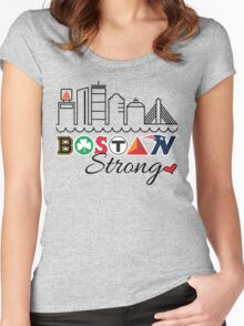 BOSTON Strong Skyline Women's Fitted Scoop T-Shirt