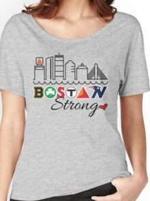 BOSTON Strong Skyline Women's Relaxed Fit T-Shirt