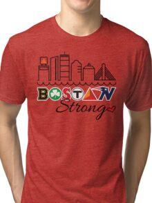 BOSTON Strong Skyline Tri-blend T-Shirt