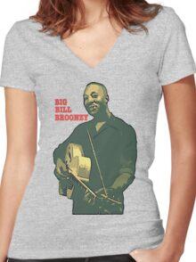 Big Bill Broonzy - Blues Guitar Women's Fitted V-Neck T-Shirt
