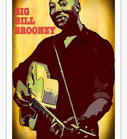 Big Bill Broonzy - Blues Guitar Sticker