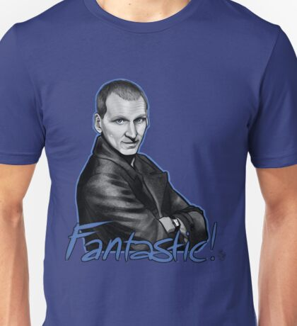 Ninth Doctor Who Christopher Eccleston Fantastic Unisex T-Shirt