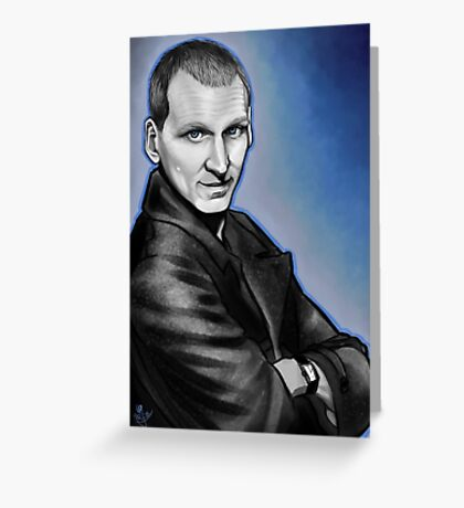 Ninth Doctor Who Christopher Eccleston Fantastic Greeting Card