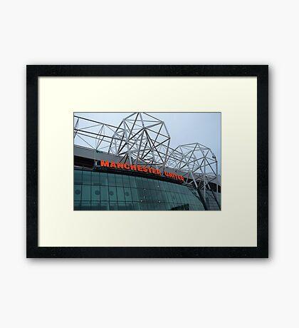 Manchester United, Old Trafford, Art Print Framed Print