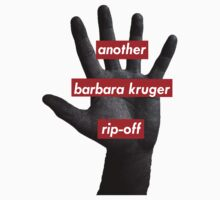 another barbara kruger rip-off by LittleBearShop